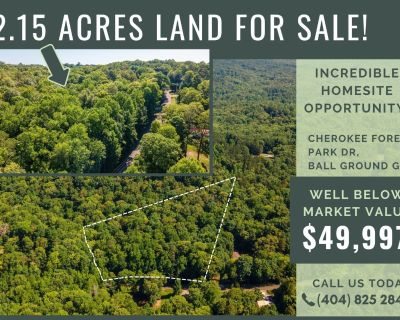 2.15 Acres for Sale in Ball Ground, GA