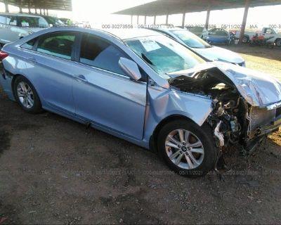 Salvage Light Blue 2013 Hyundai Sonata