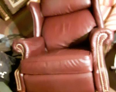 Leather Red Recliner