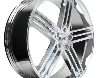 4 brand new chrome wheels (BBY 04-Exotica) 22x8 5x120 +38mm