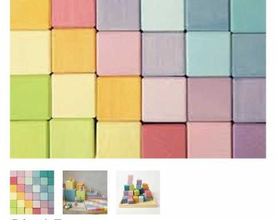 Grimms pastel wooden blocks brand new in box