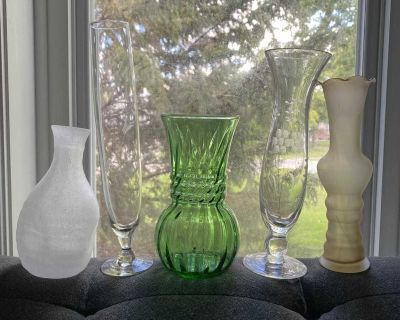 Five small vases