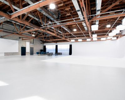 4,750 sq ft Luxury Studio 1 featuring 1410 sq ft Pre-lit 2-Wall Cyc, Lush Lounge, Make-up and Hair Wash Stations, Outdoor Patio and Central Heat & A/C, North Hollywood, CA