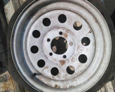 """Spare Trailer Wheel 14"""" Lawn Trailer Dump Call Me Car Trailer"""