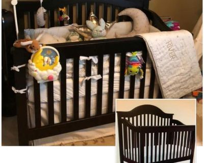 Convertible Crib with Mattress for Sale