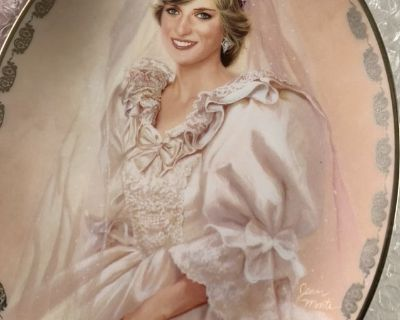 Collectible Plate & Bell, marriage of Prince Charles to Princess Diana