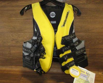 Seadoo Jet Ski Brand New Life Jacket Yellow Adult Medium 285-460-0610