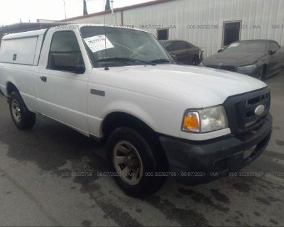 Salvage White 2007 Ford Ranger