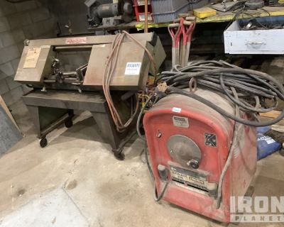 Lot of (1) Band Saw & (1) Electric Welder