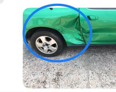 Rear quarter panel passenger side samba green