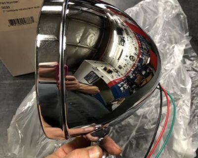 New bugpack dune buggy chrome headlight bucket