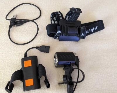 1200 lumens light for bike camping hiking drone
