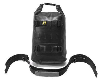 Wolfman Dual Sport Adventure Medium Waterproof Rolie Bag Black H201