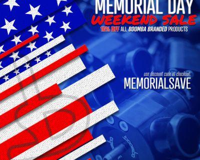 Boomba Racing Memorial Day Sale!