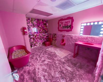Pink Bathroom Set Design, Torrance, CA