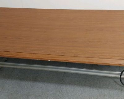 Wood look metal table heavy duty 32 x 60