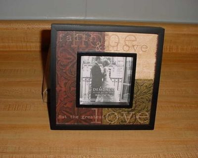 New Demdaco Answered Prayers: Faith, Hope And Love 4 x 4 Stylish Decorative Picture Frame With Standup Back. Also Has A Brass Sawtooth...