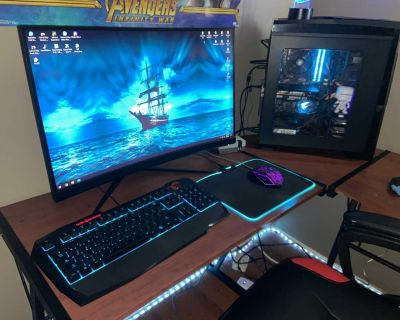 Gaming pc and screen
