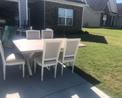 French Farmhouse Dining Table and 6 chairs