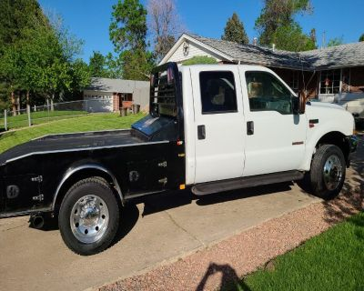 2004 Ford F-550 Lariat Power Stroke 6.0 Turbo Diesel Super Duty Flatbed Tow Truck