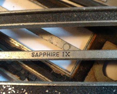 Sapphire radio metal face plate