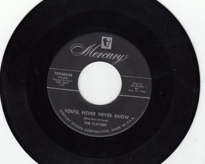 PLATTERS ~ You're Never Never Know*Mint-45 !