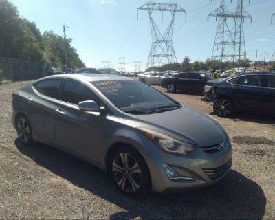 Salvage Gray 2014 Hyundai Elantra