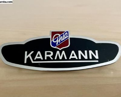 Karmann Ghia Fender Side Body Badge Emblem New
