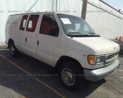Salvage White 1997 Ford Econoline Cargo Van