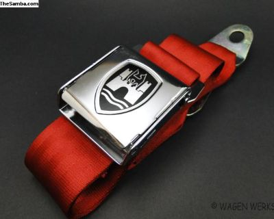 Bug Seat Belt - Chrome Red Front and Rear Seat