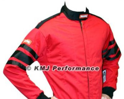 Racequip 111016 X-large Red Racing Driving Jacket Series 111 Two Piece Suit