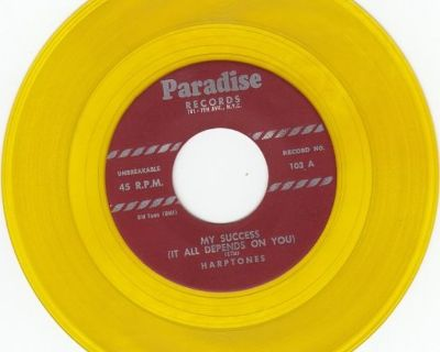 HARPTONES ~ My Success It Depends On You*Mint-45*RARE YELLOW WAX !