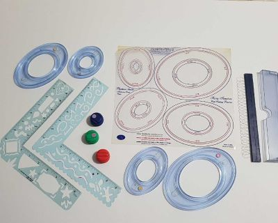 Creative Memories Oval Cutting System & Journaltopia Writing Guide Tool, plus Corner Template Stencils