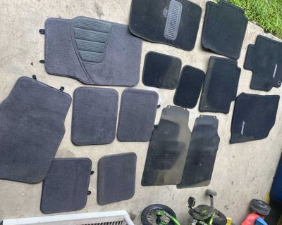 3 sets of car/truck carpet rugs