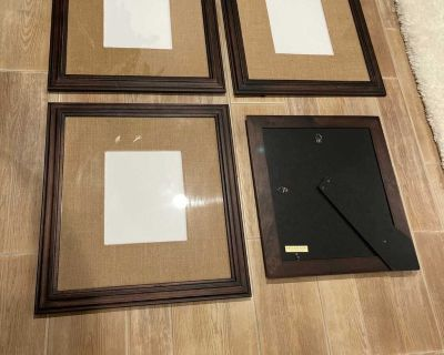 Pottery Barn - 4 large matted picture frames