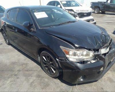 Salvage Black 2012 Lexus Ct 200h