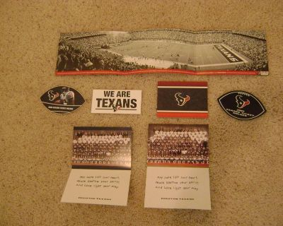 Texans (NFL) Memorabilia Collection (Early Years Thru 2008) - Does Not Include The JJ Watt Era