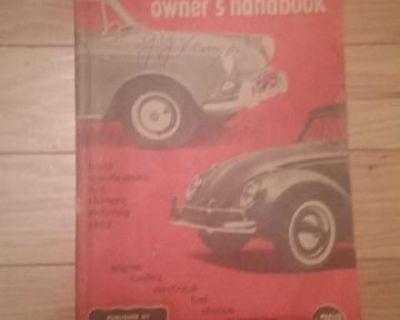 Vintage volkswagen handbook dated 1962