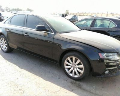 Salvage Black 2009 Audi A4
