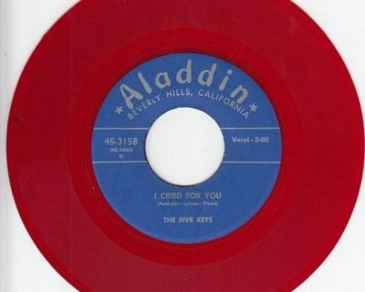 Five Keys ~ I Cried For You*M-45*RARE RED WAX !