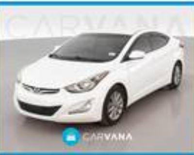 2016 Hyundai Elantra White, 52K miles