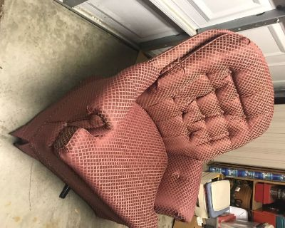 Armchair, stuffed, swivel and rocker