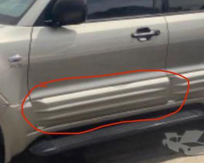 Driver side exterior door trim panel