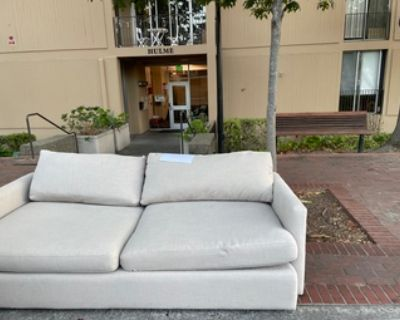 Free comfy couch outside of Hulme - Free
