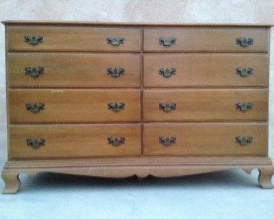 Dresser all solid maple wood construction with 8 drawers by Colonial Craft