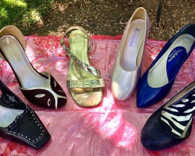 6 Pairs of Women's Shoes; Most Dressy. ~ Great Variety!