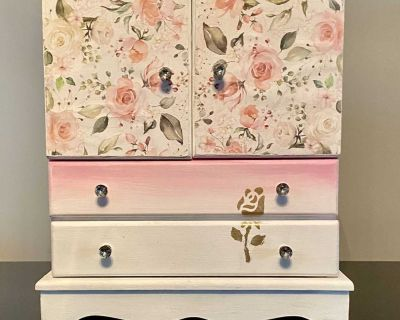 Pink Rose Ombr Jewelry Box