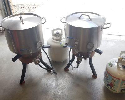 Colorado - 10gal kettles and anvil burners, price drop