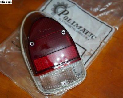 NOS Left Tail Light Lens w/Rim Gasket Polimatic