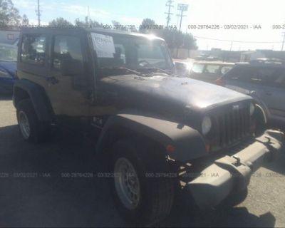 Salvage Black 2007 Jeep Wrangler